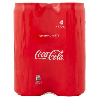 Immagine di COCA COLA LATTINA SLEEK CL 33 X 4