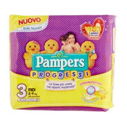 Immagine di PAMPERS PROGRESSI NEW BABY MIDI X 28