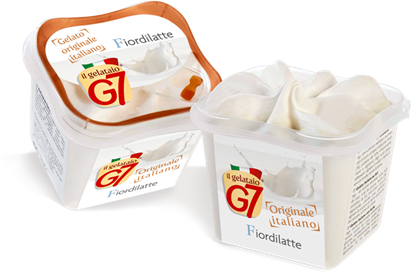 Immagine di GELATO FIORDILATTE MONODOSE G7 GR 80