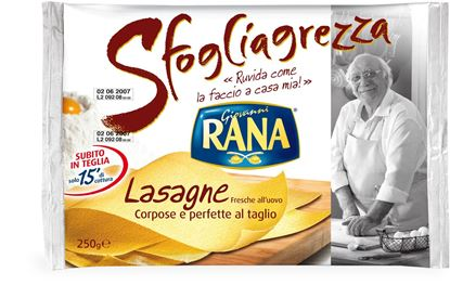 Picture of LASAGNE SFOGLIAGREZZA RANA GR250X12