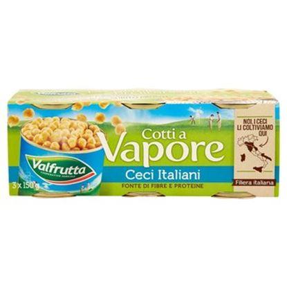 Immagine di CECI COTTI A VAPORE VALFRUTTA GR.150X3
