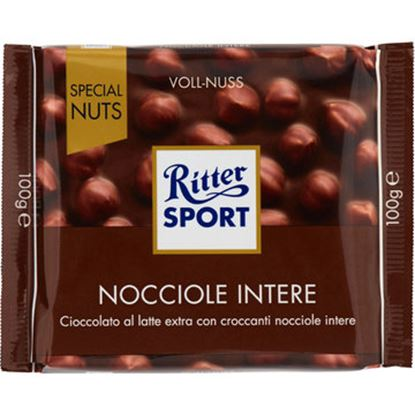 Picture of RITTER SPORT LATTE CON NOCCIOLE INTERE GR.100