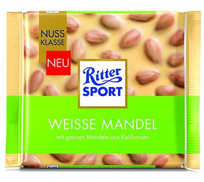 Picture of RITTER SPORT BIANCO MANDORLE INTERE GR.100